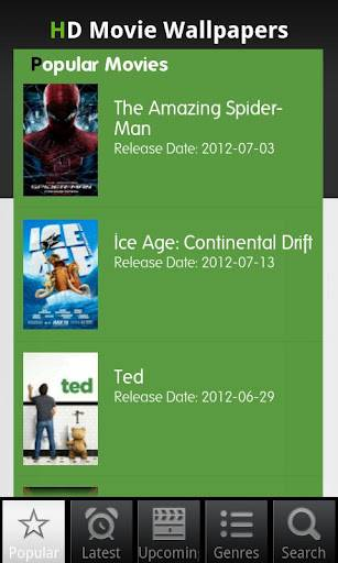 Movie Wallpapers Android Review